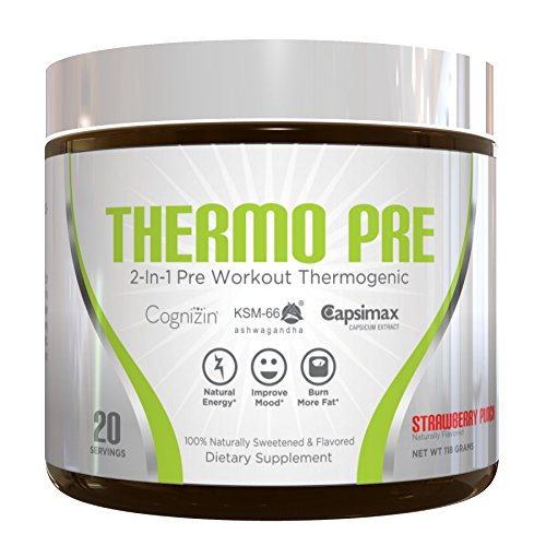 Thermo Pre All Natural 2 In 1 Workout Thermogenic Fat Burner Non Habit Forming Sustained Energy Weight Loss Formula With Ksm 66 Ashwagandha